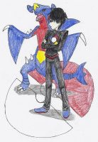 Sage and Garchomp by Dragonastra