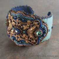 Filigree Cuff Bracelet by Beadmask