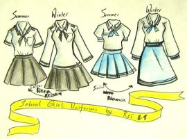 school girl uniforms entry2 by NeonGenesisEVARei