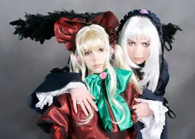 Shinku and Suigintou by Ryoko-demon