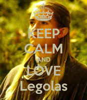 Kepp Calm and Love Legolas- iphone cover/wallpaper by PapillonLover123