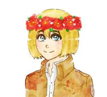 Armin with flower crown by teodoralovesteo