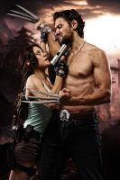 Lara Croft and Wolverine - Lovely enemy by ImeldaCroft
