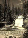 Black and white waterfall by MayasAdventures