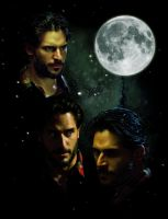 Three Alcide Moon by OhSadface