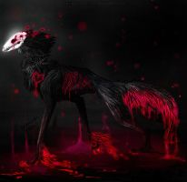 Collab: Skull Wolf by Darkside-Cookie