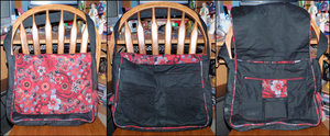 Red and Black Messenger Bag by x-Luna-chan-x