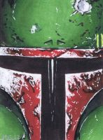 Quickie Boba Fett sketch card by jenchuan
