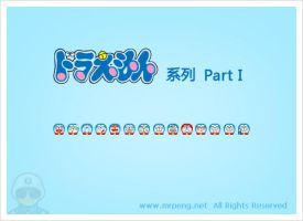 Doraemon Emoticons - Part I by chinapeng