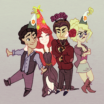 Party hats *recolor* by caprikrn