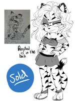 Selling characters #3 Layla the Tigger by DragonGoddess1