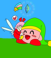 REQUEST: Kirby and Ribbon by Nyaly