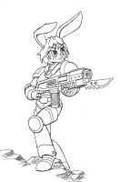 Bunny Space Marine by DaTroll