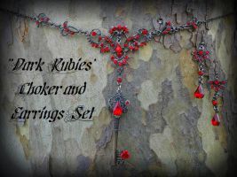 Dark Rubies Key Set by ArtByStarlaMoore