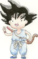 Kid Son Goku AT Style by Brookabeth