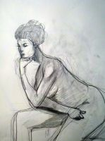 sitting nude in pencil by Vvendetta77
