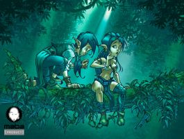 Under trees by MabaProduct