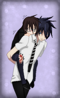 Blue Exorcist-Rin Carrying Rikako by TFAfangirl14