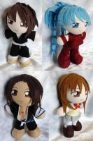Commission, Mini Bleach OC Plushies by LadyoftheSeireitei