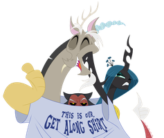 Patreon Banner - Get Along Shirt by peachiekeenie