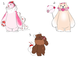 Bearsserts cheap price for all three! by SpookyBjorn