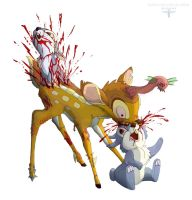 zombi-bambi vs rabbits by masacrar