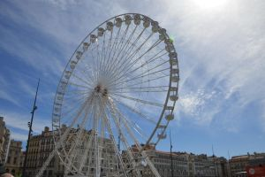 Big white wheel and sky by A1Z2E3R