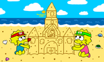 Building a Sand Castle by MarioSimpson1