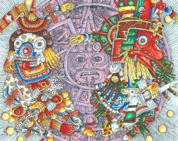 Quetzalcoatl [...], Myths and legends Contest by pukingrainbows