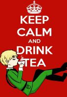 Keep Calm and Drink Tea by girlyanimegal