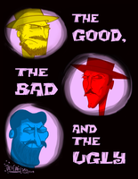 The Goodie, the Baddie and the Ugly looking' one by Moon-manUnit-42
