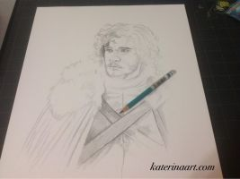 Jon Snow Work In Progress Game of Thrones by Katerina-Art
