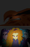 Dazzlings Captures Nine Tails by DigiTeku