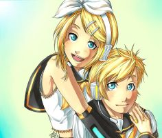 - Rin and Len Kagamine - by Pure-Ivory