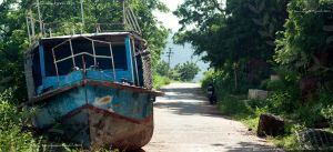 boat on the road. by ravivarma