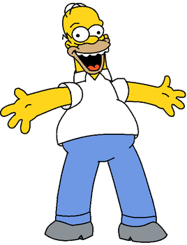 Homer Simpson's Krusty smile by CH1996ART