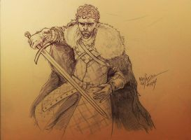 Robb Stark - King of the North by Massimo-Weigert