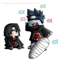 Request: Itachi n' Kisame Chibis by Urufei-Chopsticks