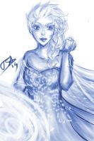 Elsa- sketch by littleWildviolet