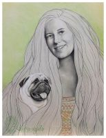 Her dog by nabey