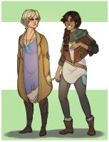 Enife: Kris Archer and Masael by Aelwen