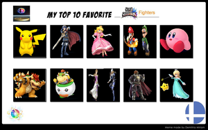 Top 10 Favorite SSB Fighters meme - my way by Britishgirl2012