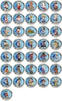 Street Fighter Chibi Badges by RedPawDesigns