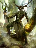 Twisted Forest Druid by Ubermonster