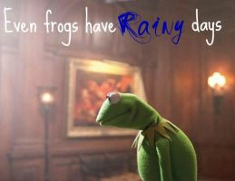 Even frogs have rainy days by Cooldawg