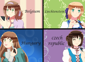 APH Girls group by EvilCoco95