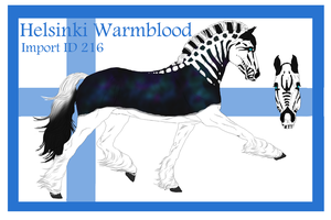 The Helsinki Warmblood Import ID 216# by LiaLithiumTM