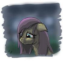 sad fluttershy - sketch - 20111031 by zlack3r