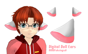 MMD= Digital Doll Ears =DL by MMDFakewings18