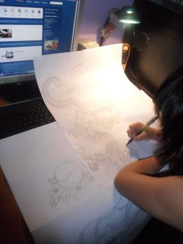 Drawing a Tattoo by Xepherchild